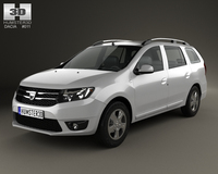 Dacia Logan MCV 2013 3D Model