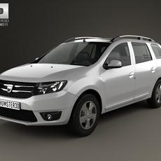Dacia Logan MCV 2013 3D Model