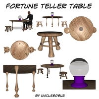 Fortune Teller Table 3D Model