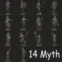14 Myth Sculpture Collection 3D Model