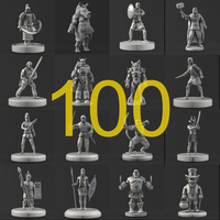 100 Myth and Ancient People Sculpture collection 3D Model