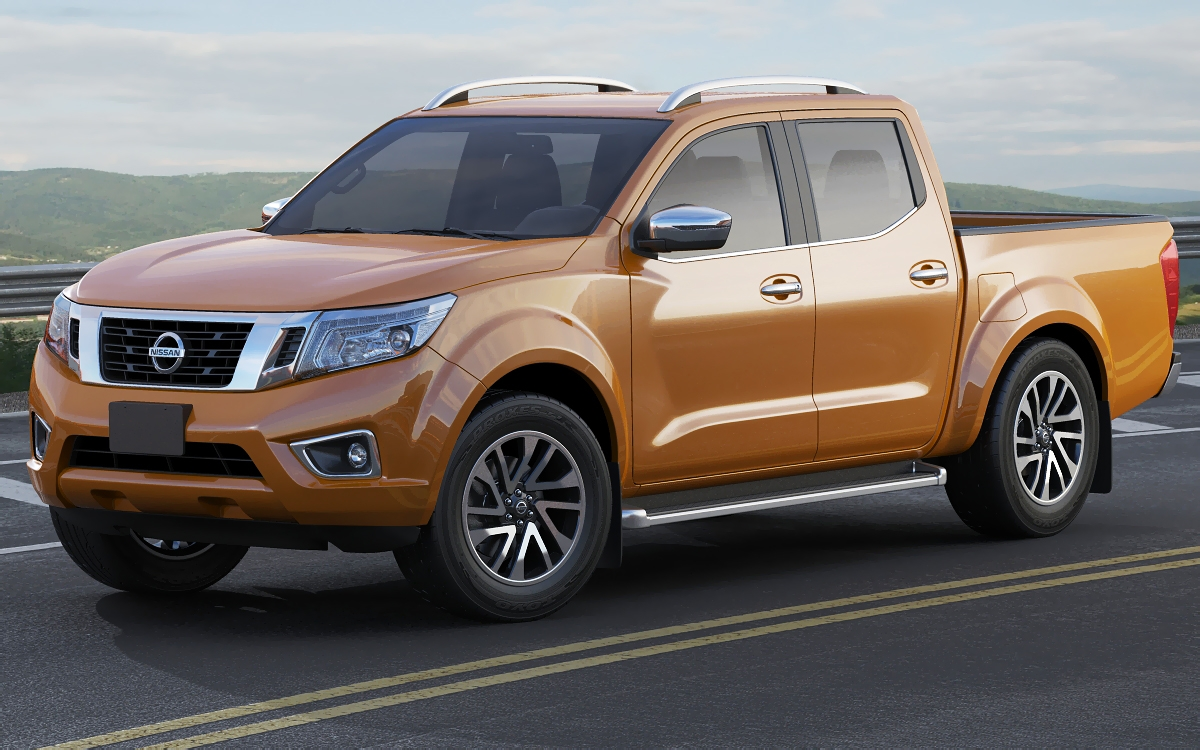 nissan navara np300 frontier 3d model. Black Bedroom Furniture Sets. Home Design Ideas
