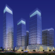 Skyscraper business center 015 3D Model