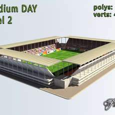 Stadium Level 2 Day 3D Model