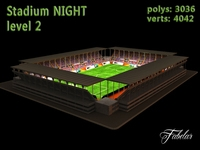 Stadium level 2 Night 3D Model