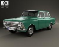 AZLK Moskvitch 408 1964 3D Model