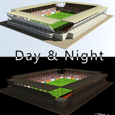 Stadium Level 2 Day&Night 3D Model