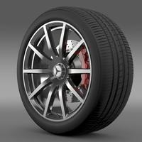 AMG Mercedes Benz S 63 wheel 3D Model