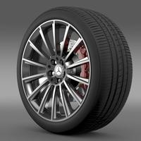 AMG Mercedes Benz S 350 wheel 3D Model