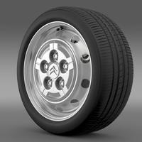 Citroen Jumper Van wheel 3D Model