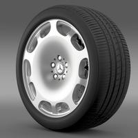 Mercedes Maybach wheel 3D Model