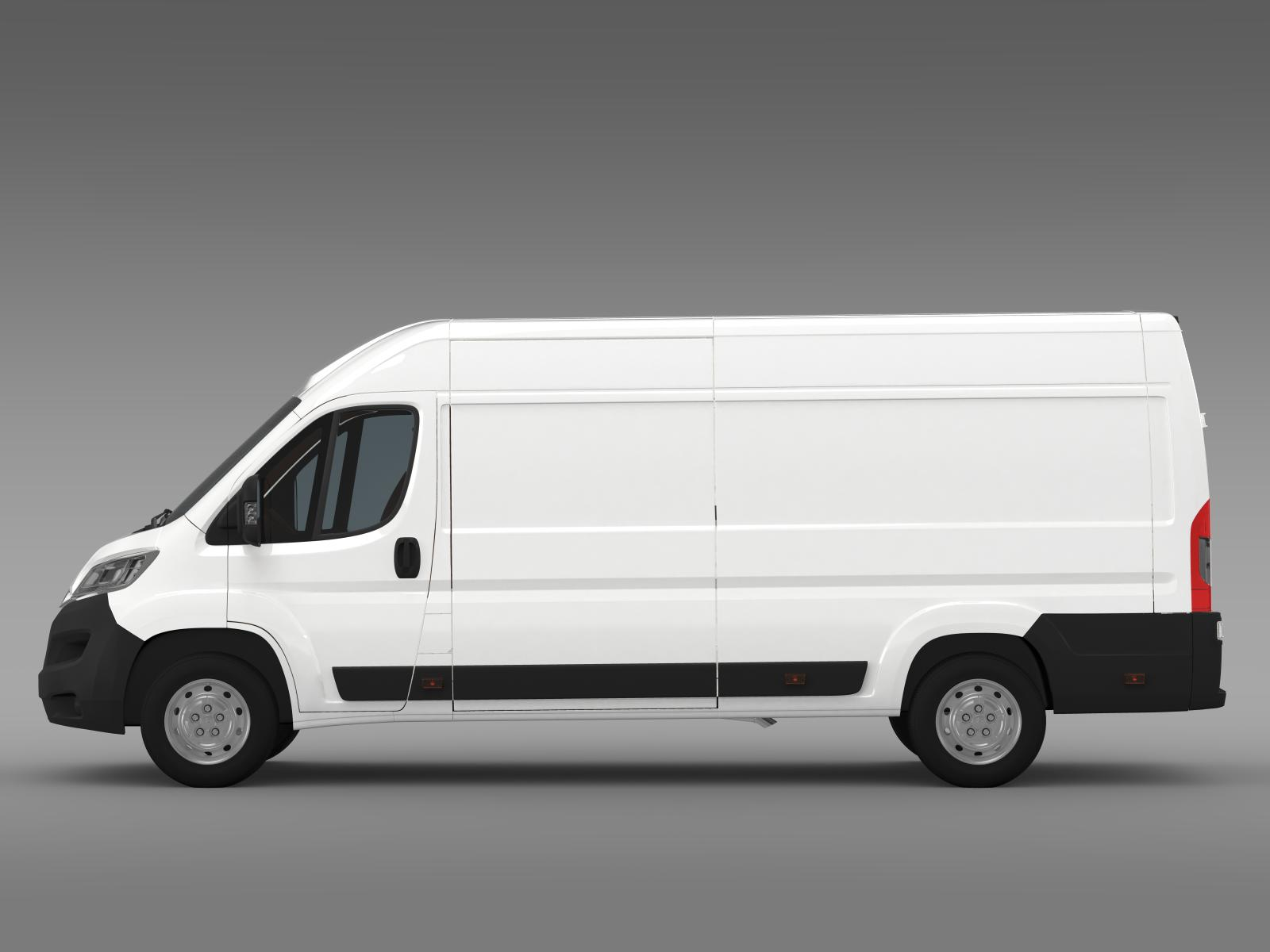 Citroen Relay Van L4H2 2015 3D Model