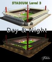 Stadium Level 3 Day&Night 3D Model