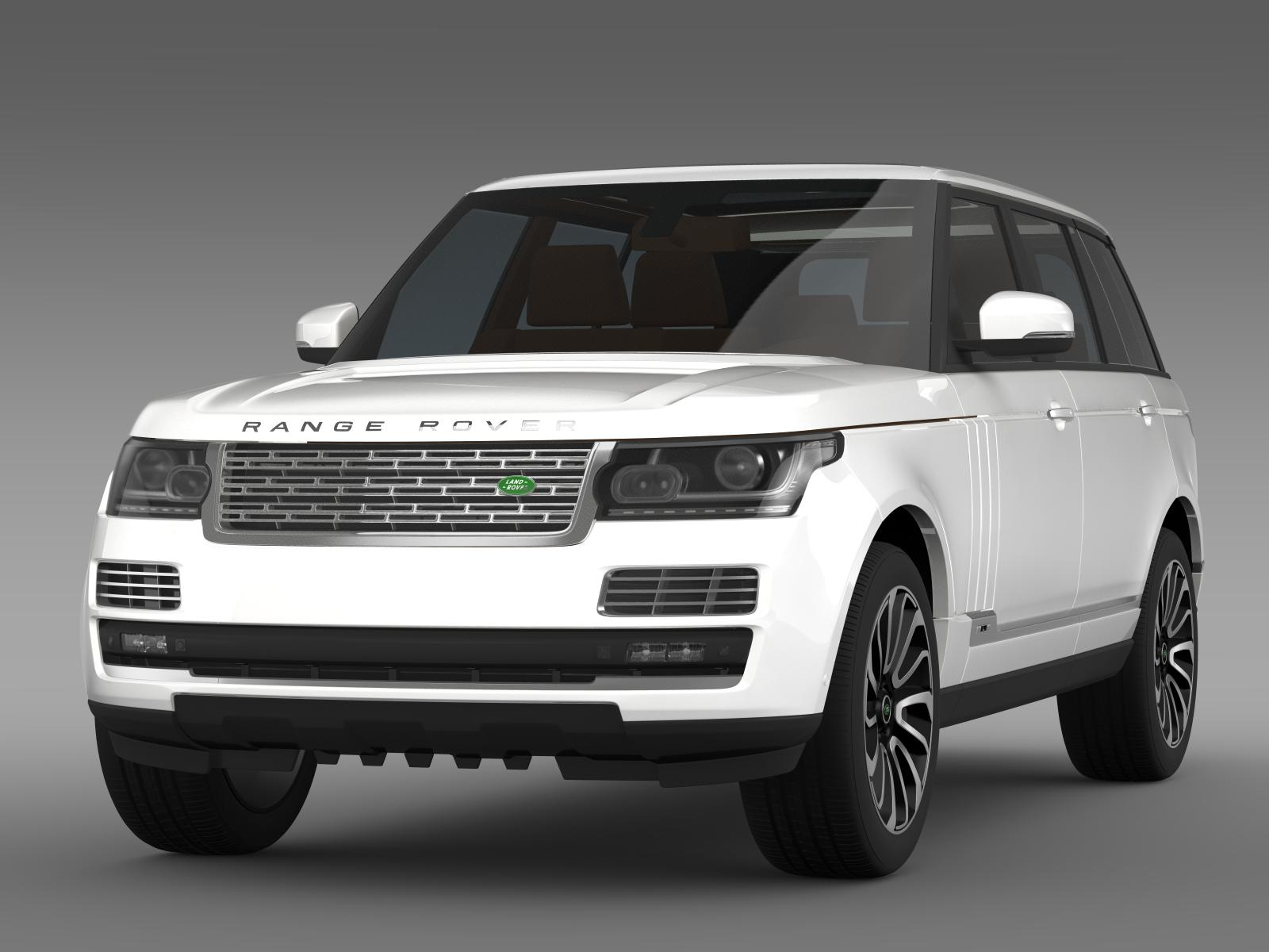 range rover autobiography lwb l405 2014 3d model. Black Bedroom Furniture Sets. Home Design Ideas