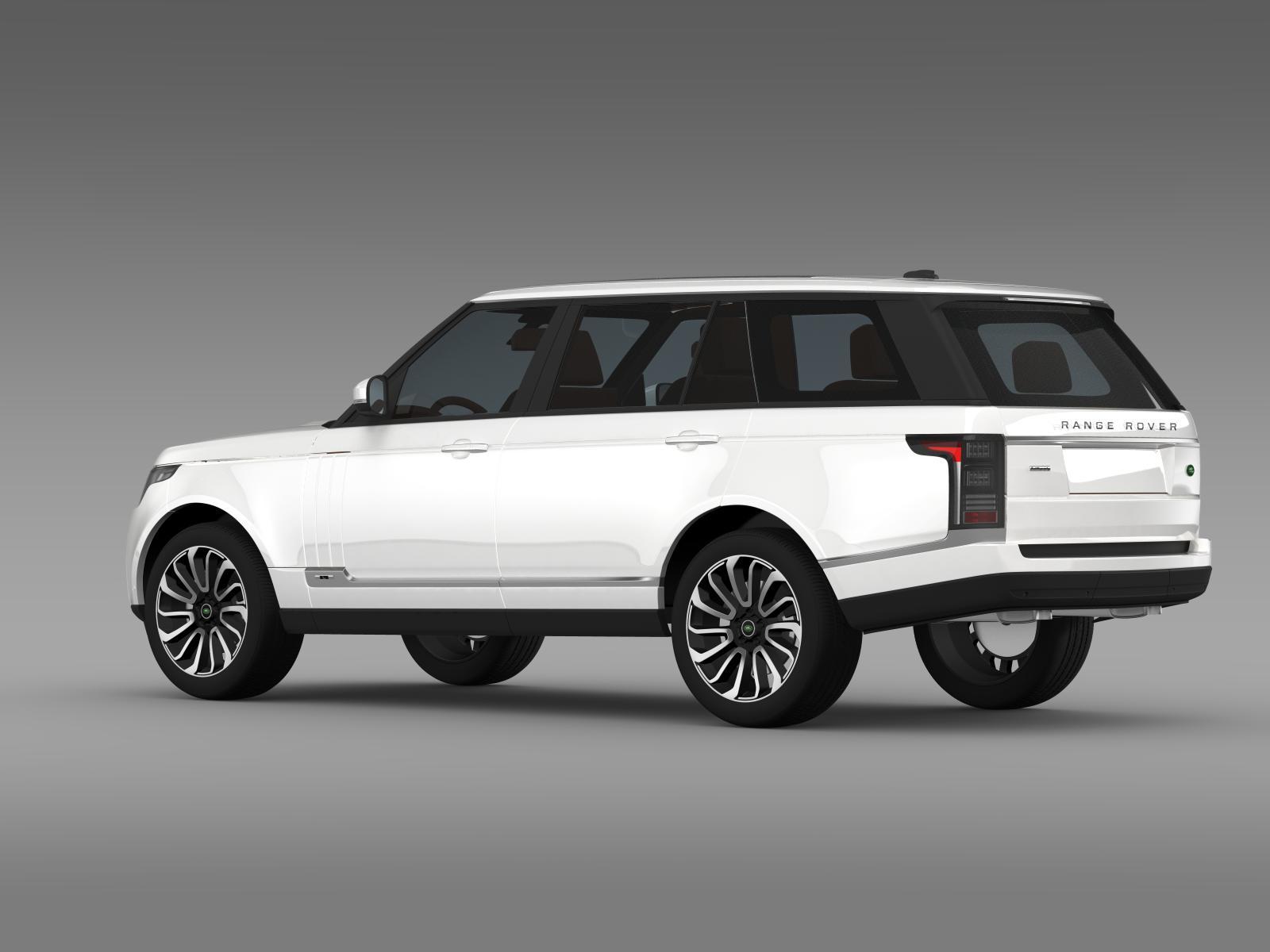 range rover autobiography lwb l405 2014 3d model. Black Bedroom Furniture Sets. Home Design Ideas