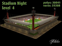 Stadium Level 4 Night 3D Model