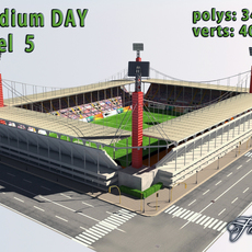 Stadium Level 5 Day 3D Model