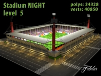 Stadium Level 5 Night 3D Model