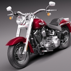 Harley-Davidson Fat Boy 2015 3D Model