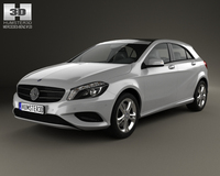 Mercedes-Benz A-class (W176) Urban Package 2013 3D Model