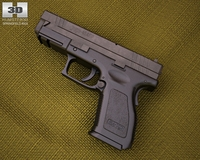 Springfield Armory XD (HS2000) 4 inch compact 3D Model