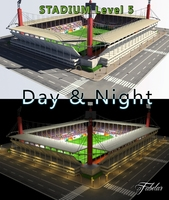 Stadium Level 5 Day&Night 3D Model