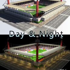 Stadium Level 5 Day&Night 3D Model