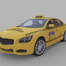 Generic Taxi high detailed 3D Model