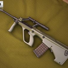 Steyr AUG A1 3D Model
