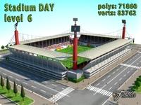Stadium Level 6 Day 3D Model