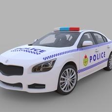 Generic Police Car 3D Model
