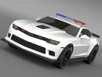 Chevrolet Camaro Z28 Police 2015 3D Model
