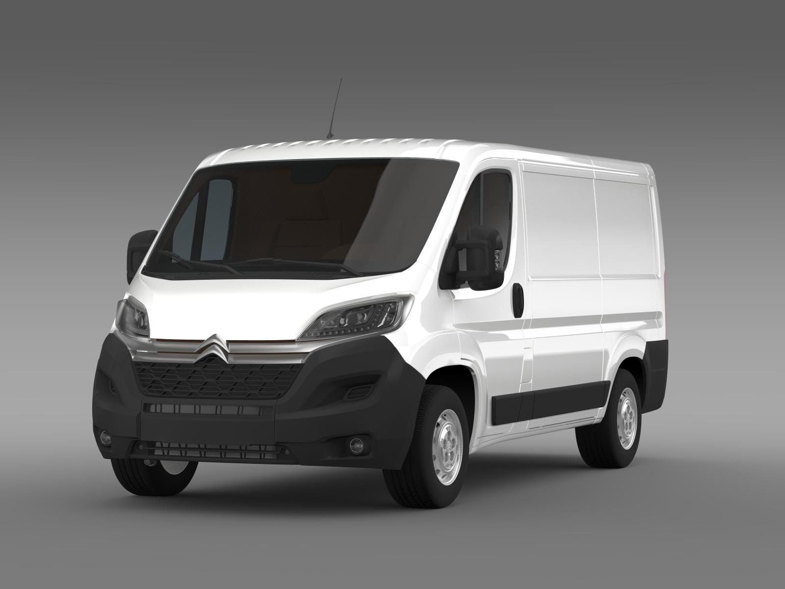 citroen jumper van l1h1 2015 3d model. Black Bedroom Furniture Sets. Home Design Ideas
