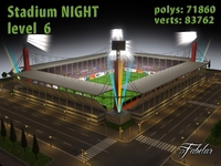 Stadium Level 6 Night 3D Model