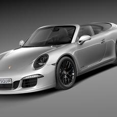 Porsche 911 Carrera GTS Cabrio 2016 3D Model