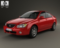 Kia Cerato (Spectra) sedan 2004 3D Model