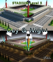 Stadium Level 6 Day&Night 3D Model