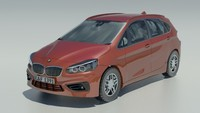 BMW 2-Series Active Tourer 2015 3D Model