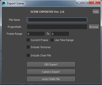 Maya to Houdini OBJ Sequence Exporter  for Maya