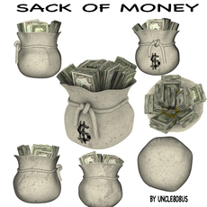 Sack Of Money 3D Model