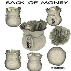 Sack Of Money 3D Model