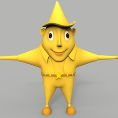 Star Cartoon Character 3D Model