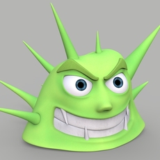 Cartoon Character with Spikes 3D Model