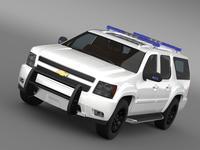 Chevrolet Suburban Z71 Police 3D Model