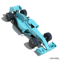 Generic F1 2015 Race Car 3D Model