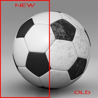 Soccerball black white 3D Model