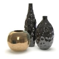 3 vases 3D Model