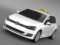 Volkswagen Golf TSI Taxi 3D Model