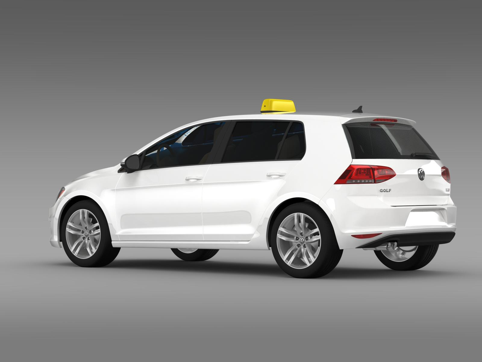 volkswagen golf tsi taxi 3d model. Black Bedroom Furniture Sets. Home Design Ideas