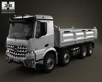 Mercedes-Benz Arocs Tipper Truck 4-axis 2013 3D Model